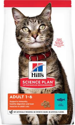 Сухой корм для кошек Hills Science Plan Adult с тунцом 10кг