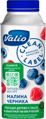 Йогурт питьевой Valio с малиной и черникой 0.4% 330мл