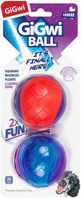 Игрушка для собак GiGwi G-Ball Мяч с пищалкой 2шт